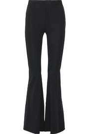 Stretch-crepe flared pants