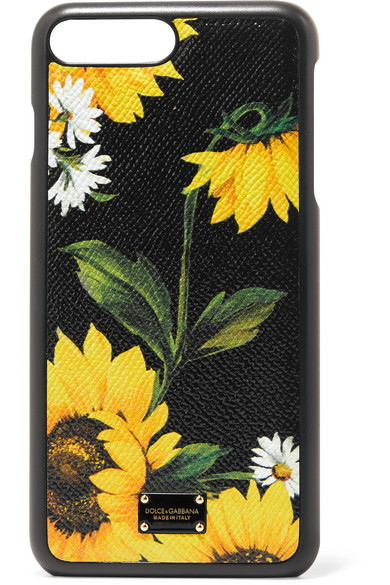 Dolce & Gabbana - Printed Textured-leather Iphone 7 Plus Case - Black
