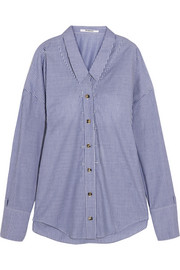 Chalayan Oversized striped cotton-poplin shirt