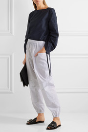 Chalayan Striped cotton-poplin tapered pants
