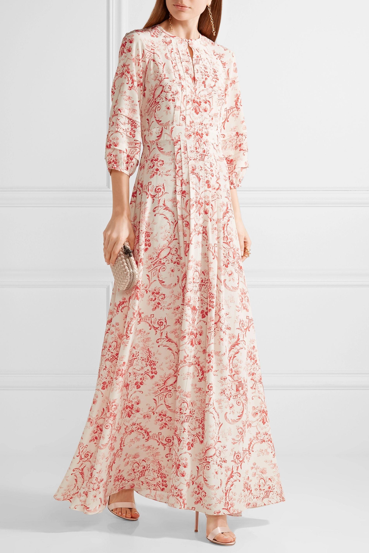 Vilshenko Gizella printed silk crepe de chine maxi dress