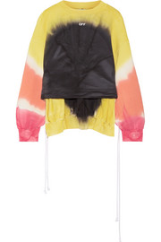 Coulisse tie-dye cotton-jersey sweatshirt