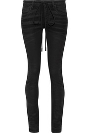 Off-White Embroidered high-rise skinny jeans