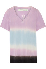 Printed tie-dyed Micro Modal T-shirt