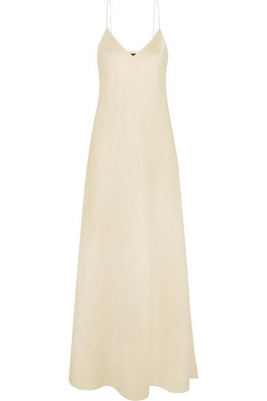 The Row Vera Silk Cloqué Gown