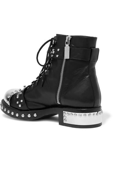 Alexander McQueen Hobnail nietenverzierte Ankle Boots aus Leder