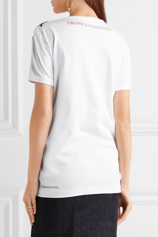 Dolce & Gabbana T-shirt en jersey de coton imprimé à ornements