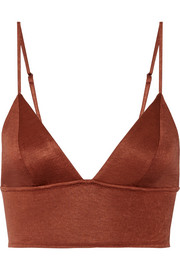 Stretch-jersey soft-cup triangle bra