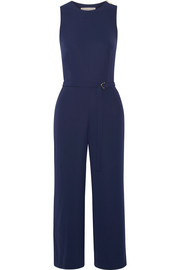 Crepe de chine wide-leg jumpsuit