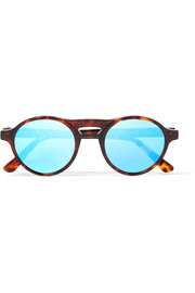 Dyad round-frame acetate mirrored sunglasses