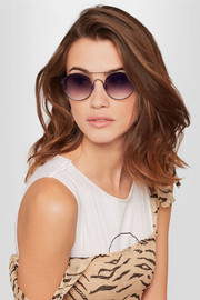 Cellophane Disco round-frame metal sunglasses