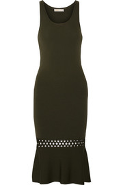 Cutout stretch-knit dress