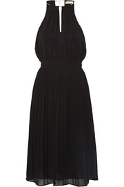 MICHAEL Michael Kors Chain-embellished pleated chiffon dress