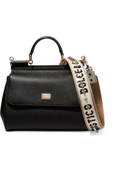 Canvas Textured Strap GabbanaStudded Bag Trimmed Dolceamp; Leather tshxdQrC