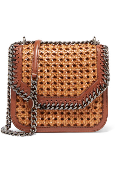 The Falabella Box Medium Woven Faux Leather Shoulder Bag