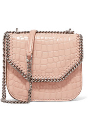 Stella McCartney The Falabella Box mini croc-effect faux leather shoulder bag