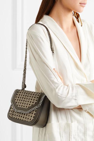 34f701da0bc7 Stella McCartney. The Falabella Box mini woven faux leather shoulder bag.   806.88. Zoom In