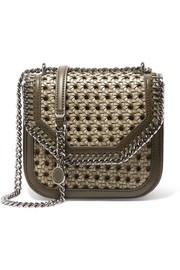 Stella McCartney The Falabella Box mini woven faux leather shoulder bag