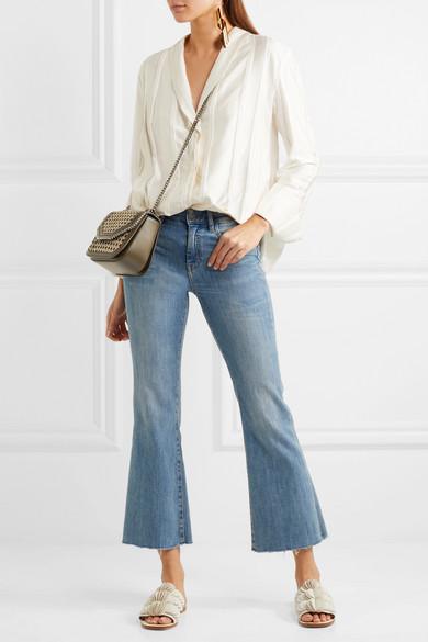 90b9e9a681e0 Stella McCartney. The Falabella Box mini woven faux leather shoulder bag