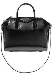 Givenchy Antigona small glossed textured-leather shoulder bag