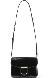 Givenchy Nobile glossed textured-leather shoulder bag