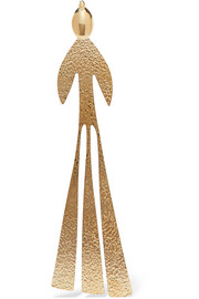 J.W.Anderson Hammered gold-plated earring