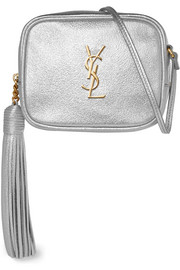 Saint Laurent Monogramme Blogger metallic textured-leather shoulder bag