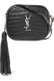 Saint Laurent Monogramme Blogger croc-effect leather shoulder bag