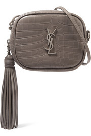 Monogramme Blogger croc-effect leather shoulder bag