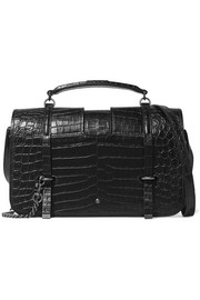 Charlotte large croc-effect leather shoulder bag