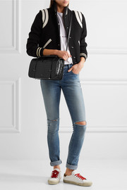 Saint Laurent Charlotte large croc-effect leather shoulder bag