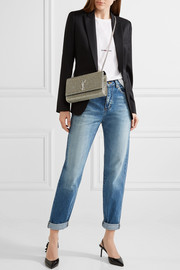 Saint Laurent Monogramme Kate medium glittered leather shoulder bag