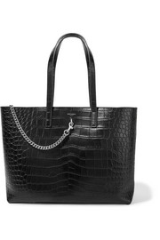 Saint Laurent Shopping large croc-effect leather tote