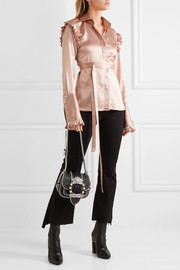 Miu Miu Dahlia embellished leather shoulder bag