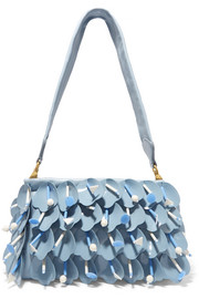 Miu Miu Swimming embellished appliquéd leather shoulder bag