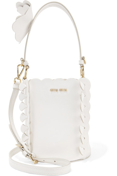 Miu Miu. Appliquéd leather bucket bag 1d00605d58223