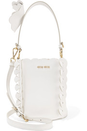 Miu Miu Appliquéd leather bucket bag