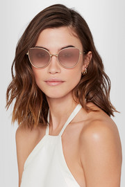 Cutler and Gross Cat-eye acetate and rose gold-tone sunglasses