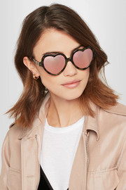 Cutler and Gross Love Bite acetate mirrored sunglasses