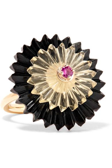 Alice Cicolini - Summer Snow Dark 9-karat Gold Multi-stone Ring