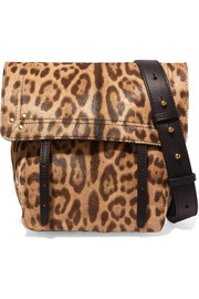 Jérôme Dreyfuss Jeremie small leopard-print calf hair and leather shoulder bag