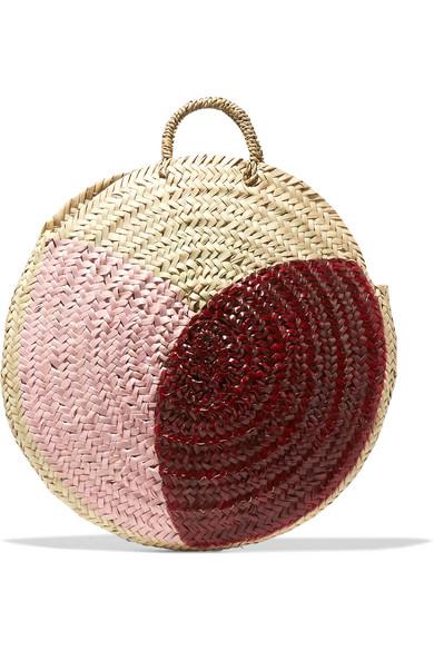 Vanessa Seward - Dinard Painted Straw Tote - Pink