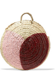 Vanessa Seward Dinard painted straw tote