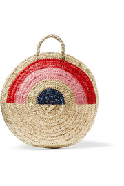 Dakar painted straw tote