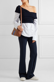 Tibi Garçon striped leather shoulder bag