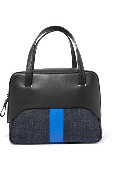 Tibi Mignon Dead From Denim And Leather