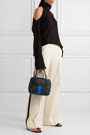 Tibi Mignon denim and leather tote
