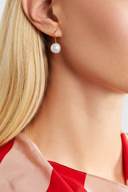 Cheyne gold-plated freshwater pearl earrings