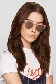 Elizabeth and James Burke square-frame acetate and silver-tone sunglasses