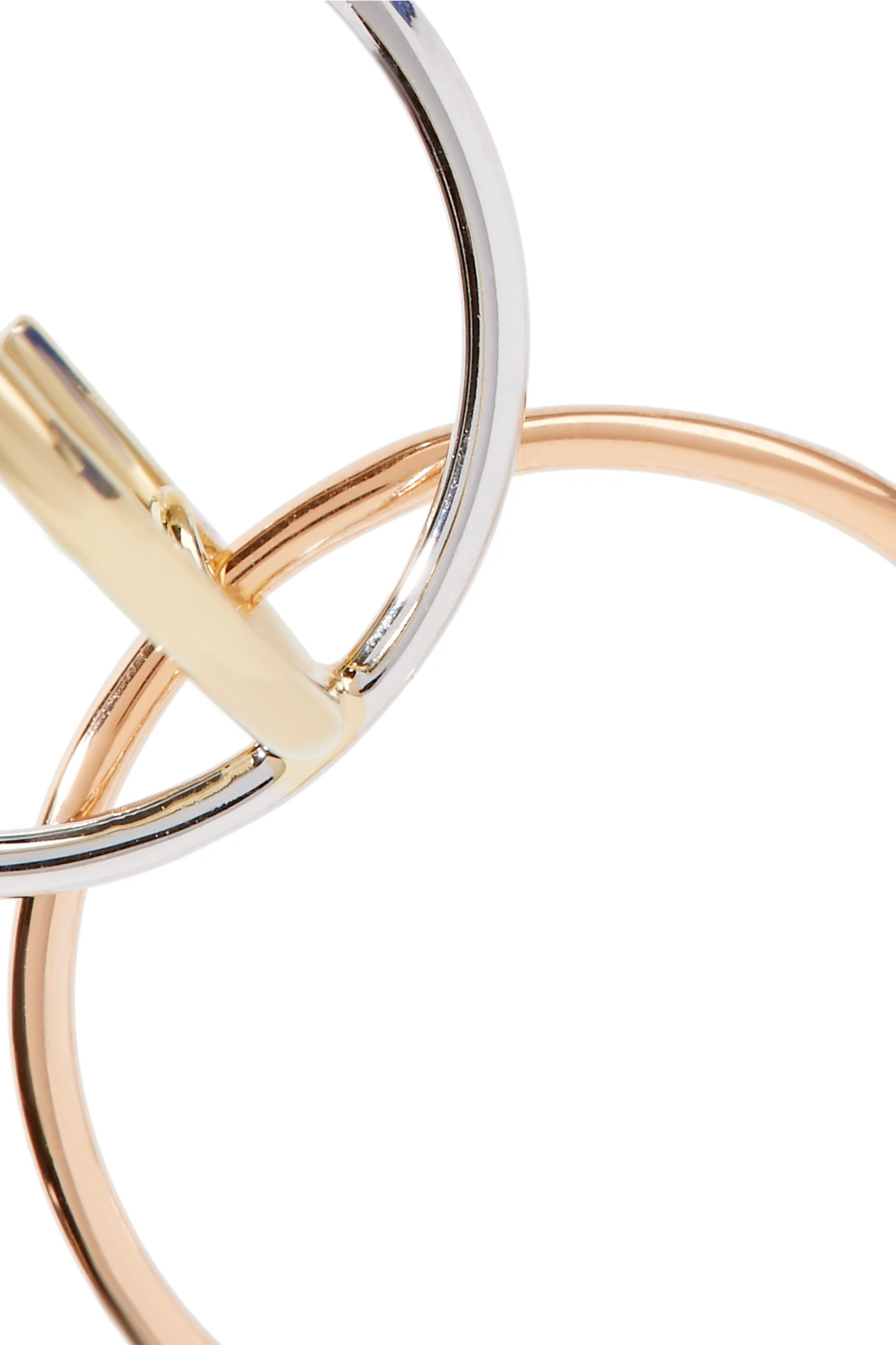 Charlotte Chesnais Galilea gold-dipped and silver hoop earrings